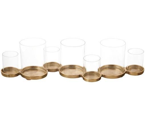Świecznik Myra, Odcienie szampańskiego, S 58 x W 14 cm