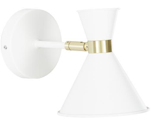 Applique con spina Audrey, Paralume: Metallo verniciato a polv, Bianco, Ø 15 x Alt. 17 cm