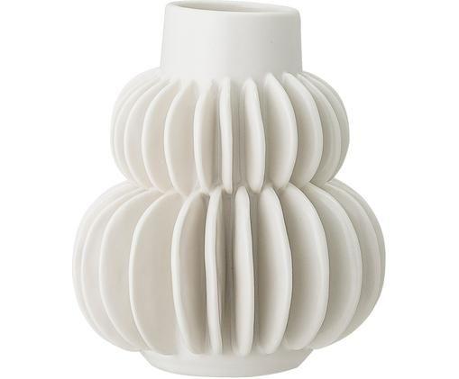 Vaso Bela, Gres, Bianco, Ø 12 x Alt. 14 cm