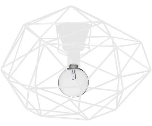 Plafonnier en métal blanc Diamond, Blanc