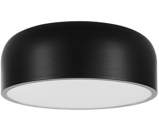 Plafoniera Ole, Disco diffusore: acrilico, Nero opaco, Ø 49 x Alt. 20 cm