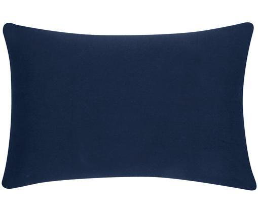 Baumwoll-Kissenhülle Mads in Navyblau, Baumwolle, Navyblau, 30 x 50 cm