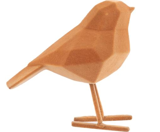 Dekoracja Bird, Poliresing, Brązowy, S 17 x W 14 cm