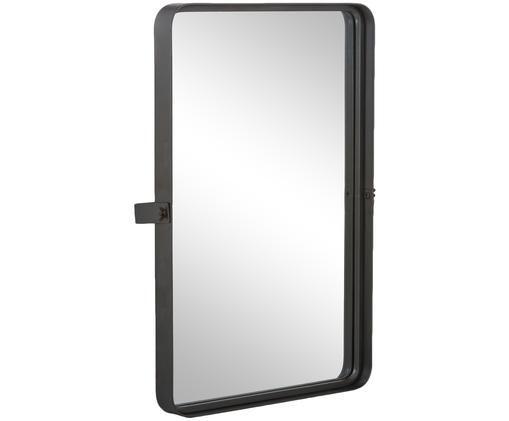 Miroir mural Poke L, Cadre: gris foncé Surface réfléchissante: verre miroir