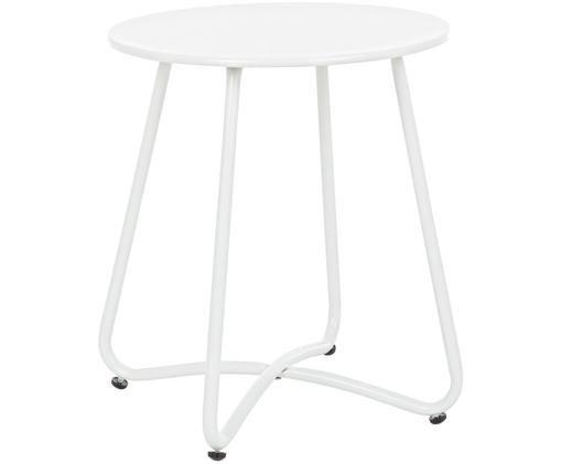 Stolik pomocniczy z metalu Wissant, Stal malowana proszkowo, Biały, Ø 40 x W 45 cm