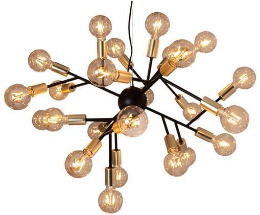 Lampa wisząca Hero, Czarny, złoty, Ø 80 x 50 cm