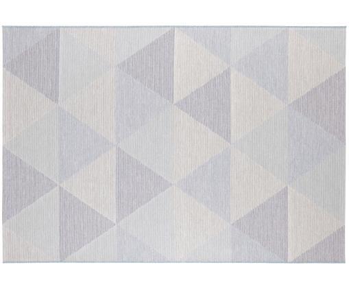 In- en outdoor vloerkleed Sevres, Polypropyleen, Blauw, crèmekleurig, lila, 160 x 230 cm