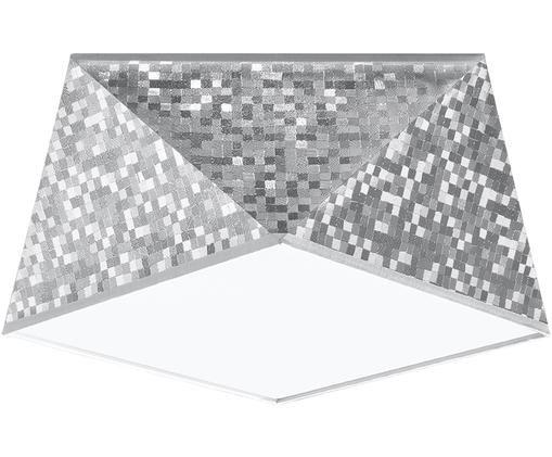 Deckenleuchte Clarity, Kunststoff (PVC), Silberfarben, Ø 30 x H 15 cm
