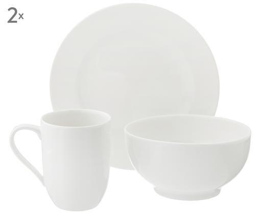 Ontbijtset For Me, 6-delig (2 personen), Gebroken wit