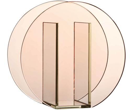 Vaas Transparence, Glas, Roze, 17 x 17 cm