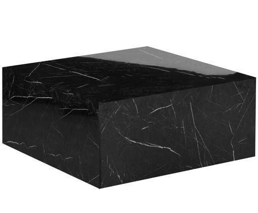 Couchtisch Lesley in Marmoroptik, Schwarz, marmoriert