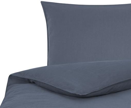 Soft-Washed Leinen-Bettwäsche Carla, Graublau