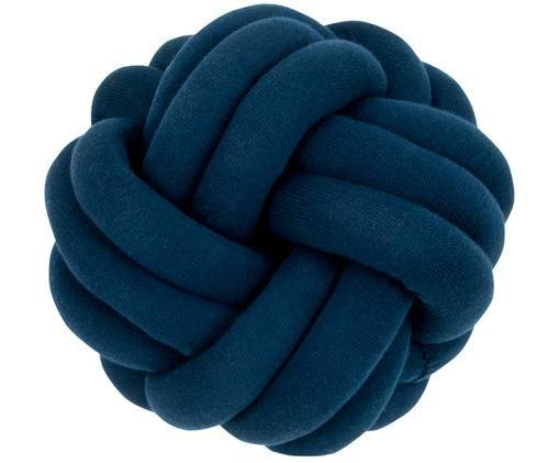 Knoten-Kissen Twist, Dunkelblau, Ø 30 cm