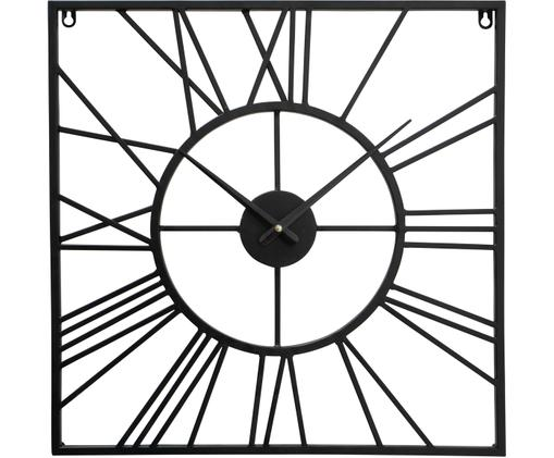 Orologio da parete Austin, Metallo rivestito, Nero, Larg. 50 x Alt. 50 cm