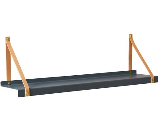 Półka ścienna Shelfie, Szary, brązowy, S 75 x G 15 cm