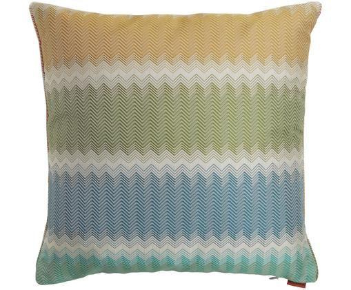 Cuscino reversibile Westminster, Tessuto: Jacquard, Blu, rosa, Larg. 40 x Lung. 40 cm