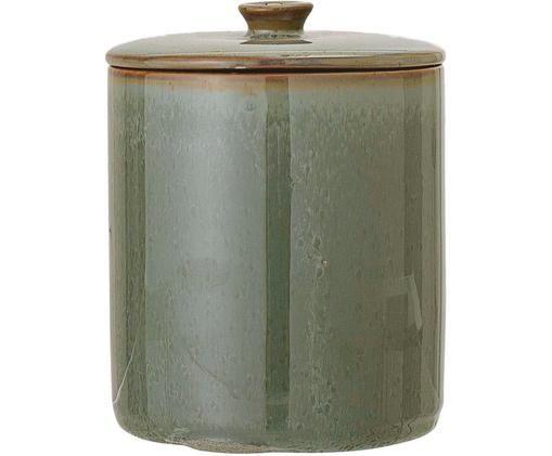 Aufbewahrungsdose Pixie, Steingut, Silikon, Grün, Ø 11 x H 14 cm