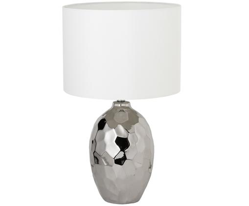 Lámpara de mesa grandeKimberly, Plateado, blanco