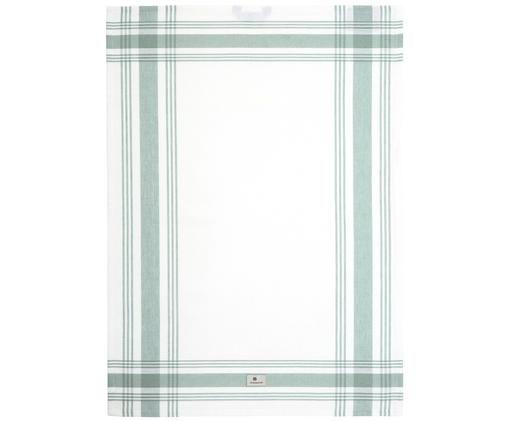 Strofinaccio Hotel Framed, Bianco, verde