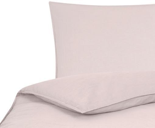 Gewaschene Leinen-Bettwäsche Carla, 52% Leinen, 48% Baumwolle Mit Stonewash-Effekt, Altrosa, 135 x 200 cm