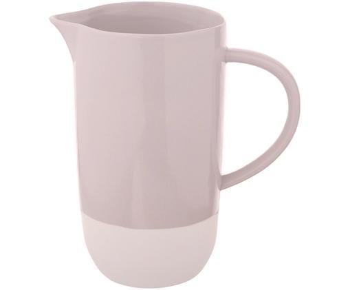 Brocca fatta a mano Bisque, Sotto: gres porcellanato non sma, Rosa chiaro, bianco, Ø 9 x Alt. 17 cm