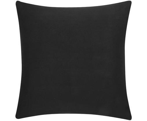 Funda de cojín de algodón Mads, Algodón, Negro, An 50 x L 50 cm