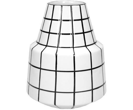 Vaso in terracotta Runs, Gres, Bianco, nero, Ø 17 x Alt. 21 cm