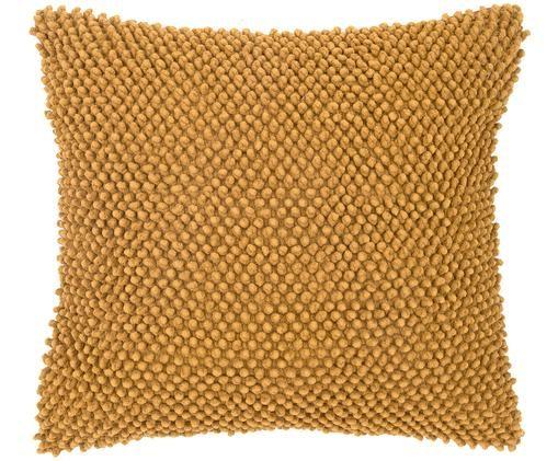 Kissenhülle Indi mit strukturierter Oberfläche, Baumwolle, Gelb, 45 x 45 cm
