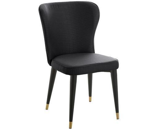 Gestoffeerde stoel Cleo, Zwart