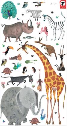 XL-Wandaufkleber-Set Animals, 39-tlg.