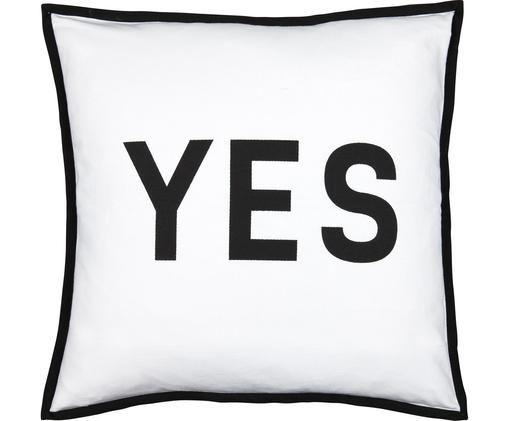 Poduszka z wypełnieniem Decision, 100% bawełna, Czarny, biały, S 45 x D 45 cm