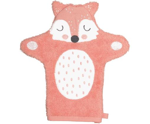 Gant de toilette Fox Frida, Rose, blanc, noir