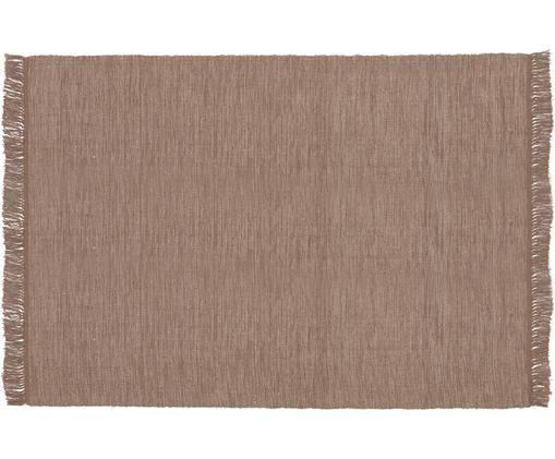 Dywan z bawełny Dag, Bawełna, Taupe, S 140 x D 200 cm