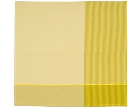 Torchonsen coton jaunes Blend, 6 pièces