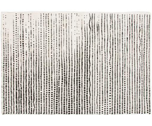 Alfombra de viscosa Lila, Parte superior: 100% viscosa, Reverso: 100% algodón, Crema, negro, An 120 x L 180 cm