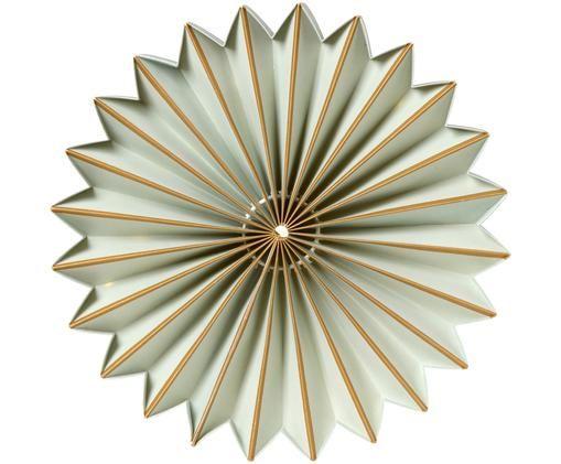 Decorazione in carta con LED Juliette, Salvia, dorato