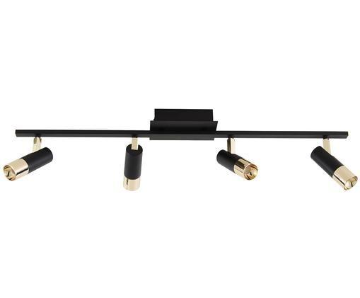 LED-Deckenleuchte Bobby, Schwarz,Goldfarben, 78 x 18 cm
