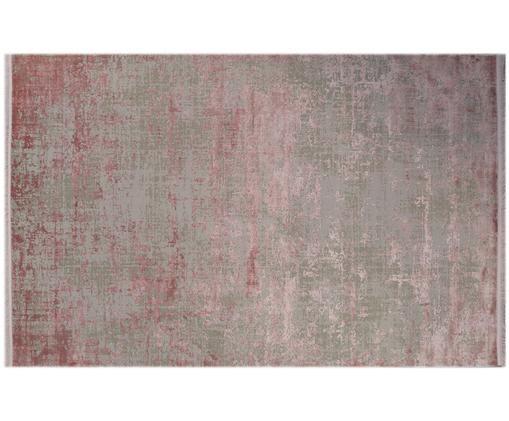 Dywan z frędzlami Cordoba, Szary, odcienie różowego, S 160 x D 230 cm
