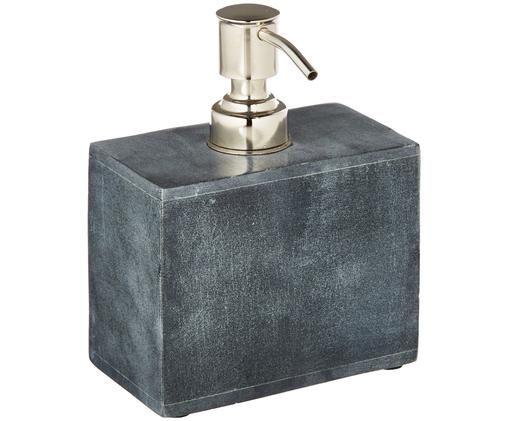 Zeepdispenser Spece, Zwart, metaalkleurig