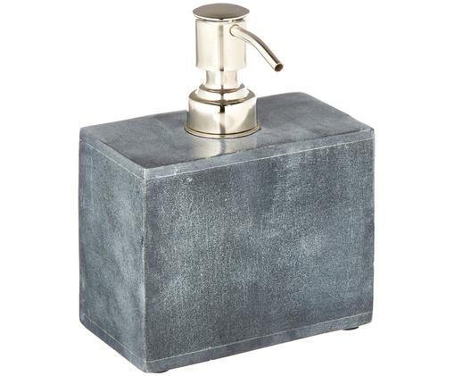 Seifenspender Spece aus Stein, Behälter: Stein, Pumpkopf: Metall, Schwarz, Metall, 12 x 15 cm