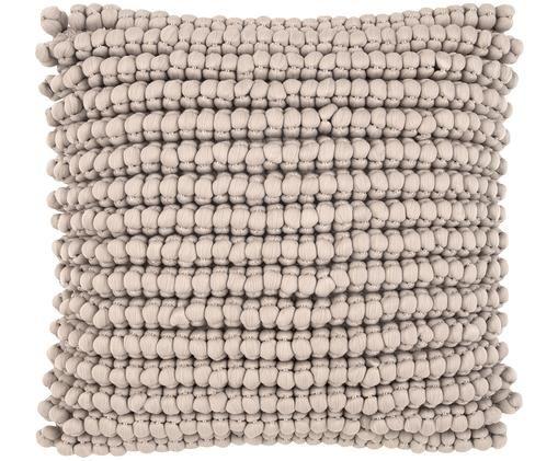 Housse de coussin à surface texturée Iona, Beige