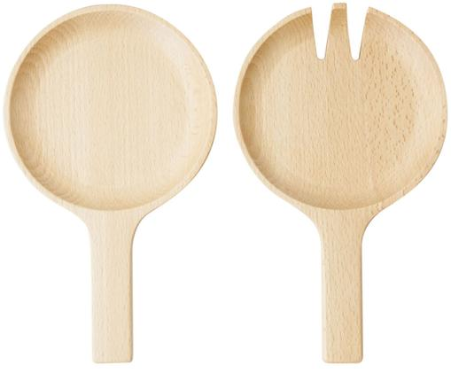 Komplet sztućców do sałatek z drewna bukowego Pan, 2 elem.