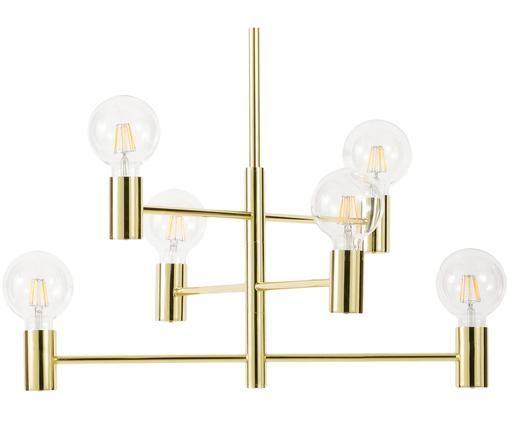Lampada a sospensione Capital, Metallo ottonato, Ottone, Ø 63 cm