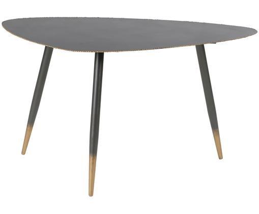 Tavolino da salotto Rikke, Nero, ottone
