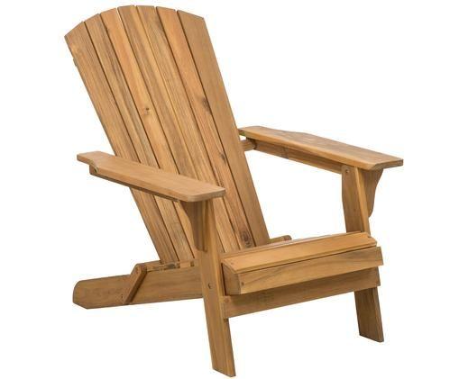 Fauteuil lounge de jardin en bois d'acacia Charlie, Brun