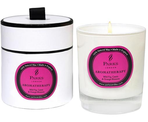 Bougie parfumée Aromatherapy (figue, cassis et orange), Transparent, blanc, rose vif