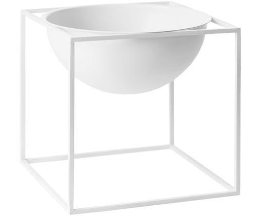 Schale Kubus, Stahl, lackiert, Weiß, 23 x 23 cm