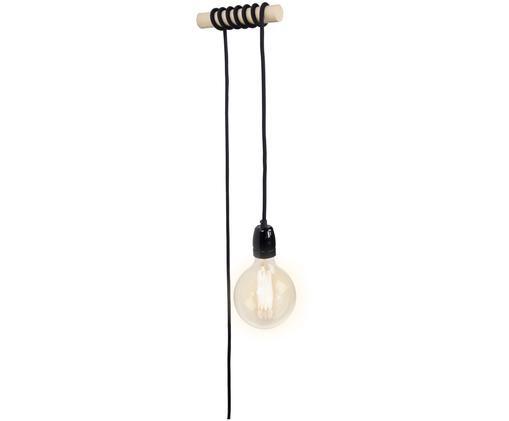 Applique Lampi, Bois de chêne, noir, mat