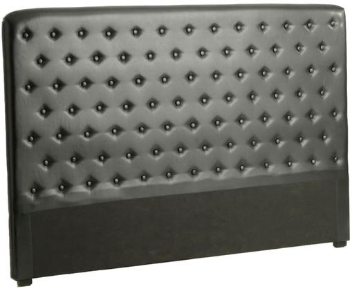 Cabecero Calibarbara, Tapizado: poliuretano, Negro, An 180 x Al 120 cm
