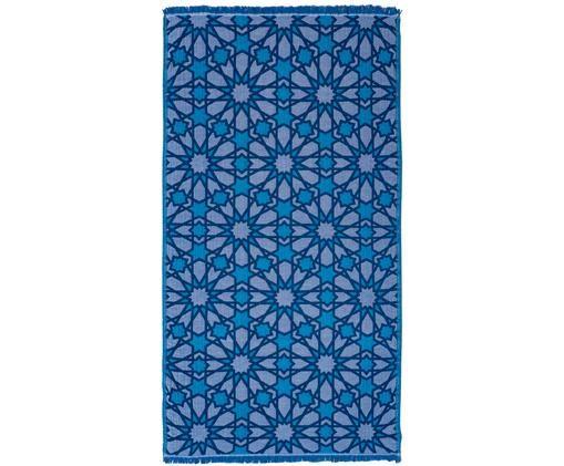 Ręcznik plażowy Granada, Niebieski, turkusowy, granatowy